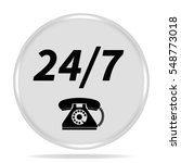 24 7 support phone icon.... | Shutterstock . vector #548773018