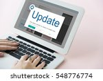 update window popup alert... | Shutterstock . vector #548776774