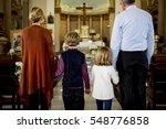church people believe faith... | Shutterstock . vector #548776858