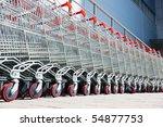 shopping carts   Shutterstock . vector #54877753