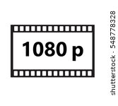 flat icon of 1080p hd video on...   Shutterstock .eps vector #548778328