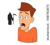 fear of death icon. cartoon... | Shutterstock .eps vector #548782873