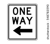 one way sign icon | Shutterstock . vector #548783590