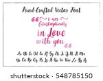 hand drawn font watercolor... | Shutterstock .eps vector #548785150