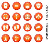 safety icons  set of red... | Shutterstock . vector #548785264