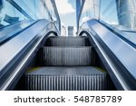 view of escalator in an... | Shutterstock . vector #548785789