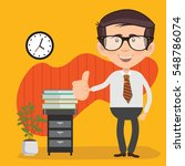 businessman employee concept... | Shutterstock .eps vector #548786074