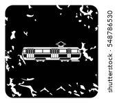 tram icon. grunge illustration... | Shutterstock . vector #548786530