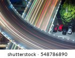 urban traffic with cityscape in ... | Shutterstock . vector #548786890