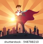 superhero businessman concept...   Shutterstock .eps vector #548788210