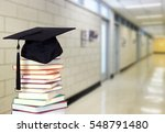 very blurry hall of school and... | Shutterstock . vector #548791480