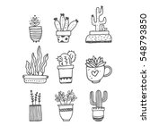 cactus doodles  nature concept | Shutterstock .eps vector #548793850