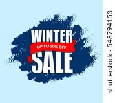 winter sale badge  label  promo ... | Shutterstock . vector #548794153