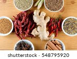 mixed spice ginger  chilli ... | Shutterstock . vector #548795920