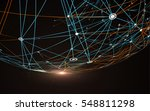 dotted lines connected to the... | Shutterstock .eps vector #548811298