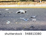 after accident  shards of part... | Shutterstock . vector #548813380