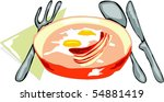 bacon and eggs | Shutterstock .eps vector #54881419