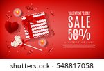 valentine's day sale web banner.... | Shutterstock .eps vector #548817058