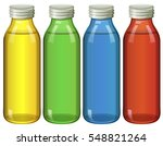four bottles in different... | Shutterstock .eps vector #548821264