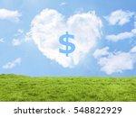 Heart Cloud Field Dollar