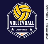 volleyball logo | Shutterstock .eps vector #548823829