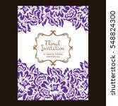 romantic invitation. wedding ... | Shutterstock .eps vector #548824300