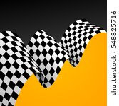 checkered racing flag... | Shutterstock .eps vector #548825716