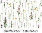 floral pattern with pink and... | Shutterstock . vector #548826664