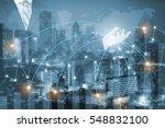 double exposure of success... | Shutterstock . vector #548832100