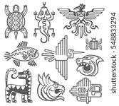 Historic Aztec  Inca Vector...
