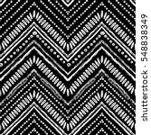 hand drawn pattern. zigzag and...