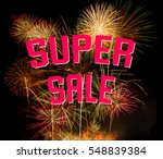 super sale on colorful... | Shutterstock . vector #548839384