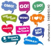 weddings phrases in speech... | Shutterstock .eps vector #548840140