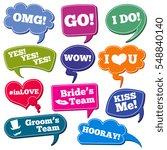 weddings phrases in speech... | Shutterstock .eps vector #548840140