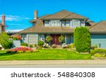 big custom made luxury house... | Shutterstock . vector #548840308