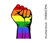fight for gay lgbt rights... | Shutterstock .eps vector #548842396