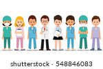 medical team isolated on white  ... | Shutterstock .eps vector #548846083