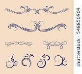vector set of calligraphic... | Shutterstock .eps vector #548850904