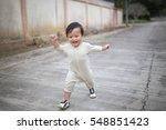 Little Baby Boy Walking Along...