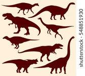 dinosaurs  fossil reptiles... | Shutterstock .eps vector #548851930