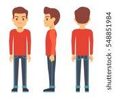 standing young man  boy... | Shutterstock .eps vector #548851984