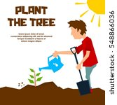 go green campaign poster  plant ...   Shutterstock .eps vector #548866036