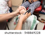 pedekyur in the beauty salon | Shutterstock . vector #548869228