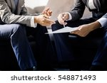 image of two young businessmen... | Shutterstock . vector #548871493