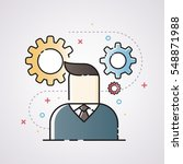 businessman with gears  idea... | Shutterstock .eps vector #548871988