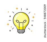 light bulb icon design  idea... | Shutterstock .eps vector #548872009