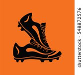 pair soccer of boots  icon.... | Shutterstock .eps vector #548872576