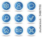 Basic Web Icons  Blue Glossy...
