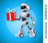 robot   3d illustration | Shutterstock . vector #548880610