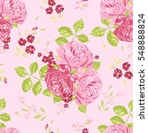 seamless pattern with flowers.... | Shutterstock .eps vector #548888824